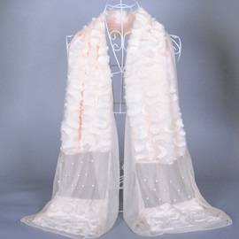 New Pearl Decorated Winter Scarf