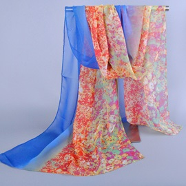 Multicolor Optional Printed Chiffon Scarf