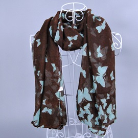 Voile Butterfly Scarf