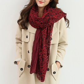 Hollow Fashion Women Scarf