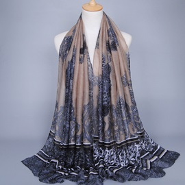 Classic Voile Printed Scarf