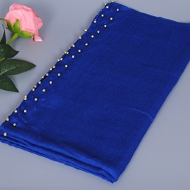 Muslim Gold Beads Embellished Scarf