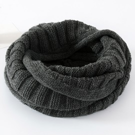 Solid Color Woolen Yarn Neck Warmer