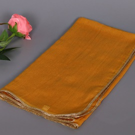 Pure Color Golden Thread Decorated Women's Scarf
