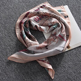New Style Silk Printed Square Scarf for Women