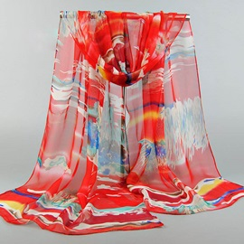 Bohemian Gradient See-Through Seaside Scarfs