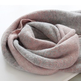 British Style Gradient Woolen Yarn Knitted Warm Long Scarfs