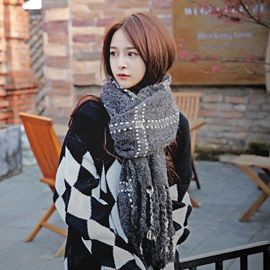 Plaid Warm Soft Winter Scarfs