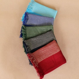 Plain Pure Color Cotton Scarfs for Women