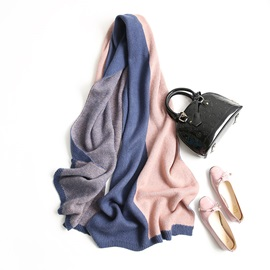 Two Tone Patchwork Imitation Cashmere Fall Winter Scarf
