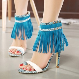 Tassels Ring-Toe High Heel Sandals