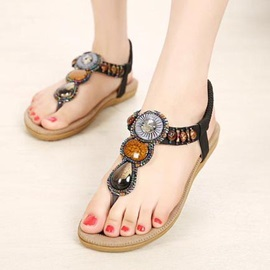 Bohemian Style Thong Flat Sandals