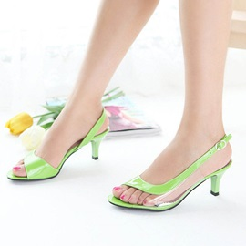 PVC Patchwork Buckles Sandals
