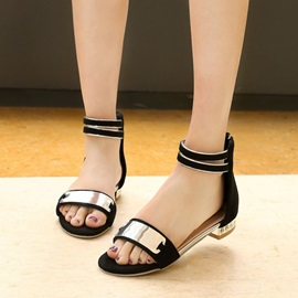 Cozy Open-Toe Covering Heel Flat Sandals