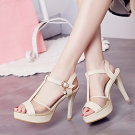 Peep-Toe Mesh Patchwork Sandals