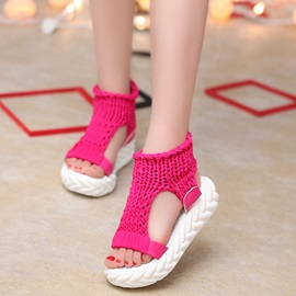Korea Slip-On Platform Chic Women's Sandals