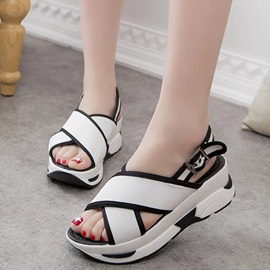 Cloth Buckle Platform Women's Chic Sports Sandals