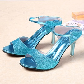 Glitter Slip-On Stiletto Heel Women's Flip Flops