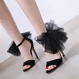 Stiletto Heel Line-Style Buckle Women's Sandals