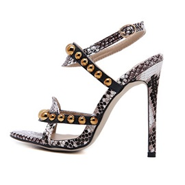 Rivet Strappy Stiletto Heel Women's Sandals