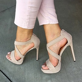 Plain Stiletto Heel Heel Covering Women's Sandals
