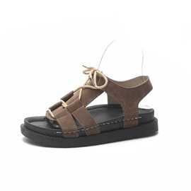 Ankle Strap Open Toe Lace-Up Women's Ugly Sandals