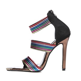 Stiletto Heel Open Toe Heel Covering Western Sandals