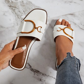 Slip-On Block Heel Casual Sandals