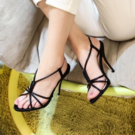 Slingback Strap Slip-On Stiletto Heel Sexy Sandals