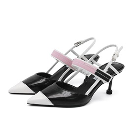 Pointed Toe Buckle Stiletto Heel Low-Cut Upper Sandals