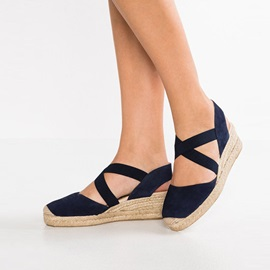 Elastic Band Wedge Heel Closed Toe Women's Sandals