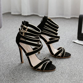 Stiletto Heel Heel Covering Buckle High Shaft Sandals