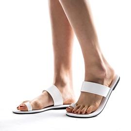 Block Heel Toe Ring Slip-On Summer Women's Slippers