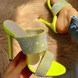 Slip-On Rhinestone Casual Neon Outdoor Slippers