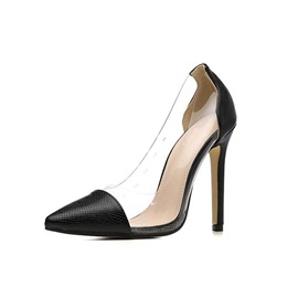 Stiletto Heel Slip-On Pointed Toe Low-Cut Upper Thin Shoes