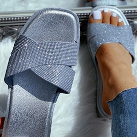 Flat With Slip-On Cross Summer Slippers