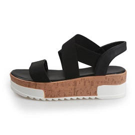 Platform Slip-On Open Toe Low-Cut Upper Sandals