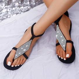 Thong Flat With Buckle Casual Sandals