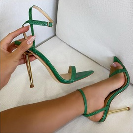 Stiletto Heel Buckle Peep Toe Buckle Sandals