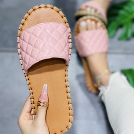 Flat With Candy Color Flip Flop Western Slippers