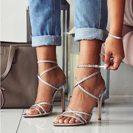 Stiletto Heel Pointed Toe Buckle Casual Sandals