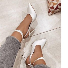 Closed Toe Lace-Up Stiletto Heel Lace-Up Sandals