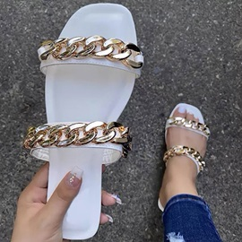 Flat With Flip Flop Chain Summer Slippers