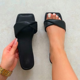 Toe Ring Flat With Slip-On Casual Slippers