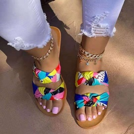 Flat With Slip-On Print Summer Slippers