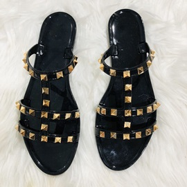 T-Straps Flat With Slip-On Summer Slippers