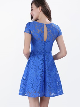 European Style Crochet Lace Dress