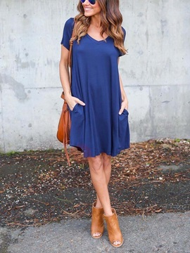 Short Sleeves Casual Fit Women's Dress