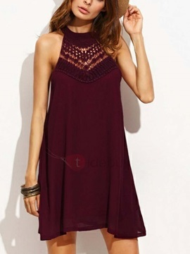 Sleeveless Casual Short Women's Day Dress