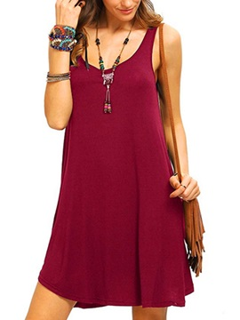 Scoop Casual Fit Sleeveless Women's Dress